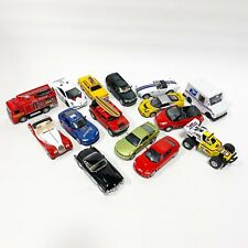 Kinsmart 1:36-1:42 Scale Lot of 15 Pull Back Diecast Cars Trucks Vehicles