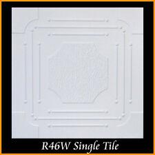 Ceiling Tiles Glue Up Styrofoam 20x20 R46 White Pack of 8