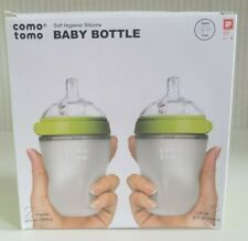 Comotomo Baby Bottle, Green, 8 Ounce (2 Count) Green BPA Free New