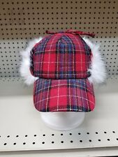 Men's Winter Faux-Fur Plaid Earflap Hat