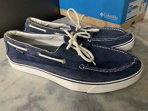 Columbia Crankbait Boat Canvas Mens Size 11.5 Shoes NICE