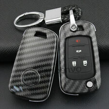 Carbon Fiber ABS Solid Car Key Keychain Cover For Chevrolet Cruze Malibu Impala