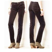 AG Adriano Goldschmied 25 Grey The Stevie Ankle Slim Straight Leg Corduroy Jeans