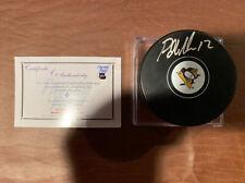 PATRICK MARLEAU Signed Autographed Pittsburgh Penguins Puck Frozen Pond COA