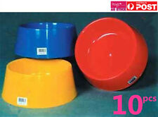 10pcs Giant Dog Pet Bowl 25cm Plastic Feeder Bowl Water Food Holder Q112879x10