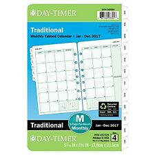 """Day-Timer Monthly Planner Refill 2017 Two Page Per Month Loose Leaf 5.5 X 8.5"""""""