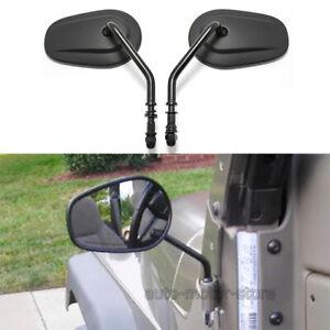 Matte Black Door off Mirrors Side Rearview Mirror For Jeep Wrangler YJ JK TJ JL
