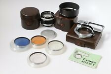 Canon 50mm f/1.2 LTM lens + rare Hood + 4 filter Auto UP - READ DESCRIPTION