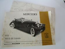 Vintage Pocher 1/8 1935 Mercedes 500K Cabriolet Original Instruction Manuel