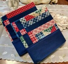 COUNTRY COTTAGE SET OF TWO IMAGES OF QUILTING STAR BLOCKS PILLOWCASES-BRAND NEW