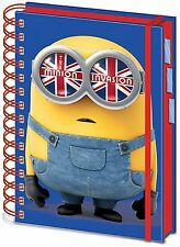 Official Minions British Mod Project Book Notepad Hardback A5 TV Gift