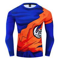 Men Dragon Ball Goku 3D Printed Cosplay Compression Gym Workout Fitness T shirts