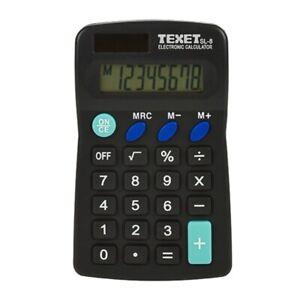 Texet SL-8 Dual Powered Pocket Calculator
