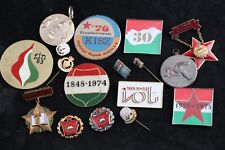 Lot 17 Hungary Hungarian Badge Medal Communist Excellent Worker KISz Red Cross