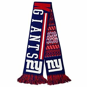 """NFL New York Giants 2015 Ugly Sweater Reversible Scarf 64"""" by 7"""" by FOCO"""