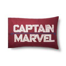 Marvel Captain Marvel Standard Pillowcase Red