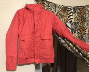 BURTON Dry Ride Insulated Snowboard Coat Small Winter Jacket Ski BRIGHT RED