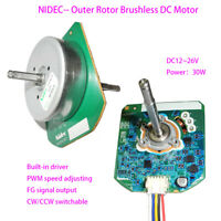 NIDEC DC24V Dual Ball Bearing Outer Rotor Brushless DC Motor DIY Air Purifier FY
