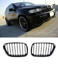 BMW X5 E53 99-03 M performance gloss black front kidney grilles grille grills UK