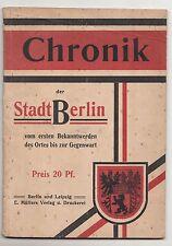 Cronología de la ciudad de Berlín VIM primera conocida se hasta presencia para 1910!