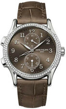 Patek Philippe 7134G-001 Complications Ladies Diamond Dual Time White Gold 35mm