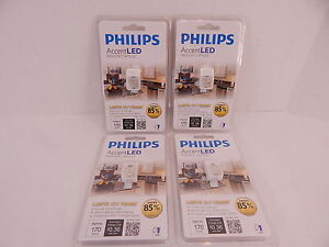 4 PHILIPS ACCENT LED INDOOR CAPSULE 2700K 170 LUMENS CLEAR LIGHT BULBS G4 PIN