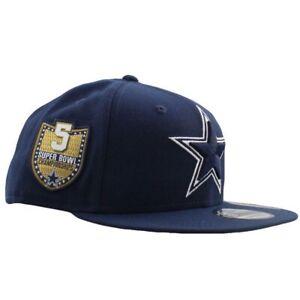 Dallas Cowboys New Era Golden Hit 5 Time Super Bowl Champ 59FIFTY  Hat -Navy