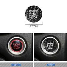 Carbon Fiber Engine Start Push Button Cover Trim Fit For Honda Accord CRV CIVIC