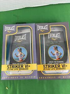 2 PK Everlast Striker VI+ Active Life Armband for Mobile Phones, Blue, EV5635