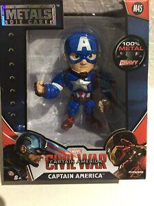 """4"""" Metals Die Cast Marvel Civil War Captain America CAPTAIN AMERICA M45"""
