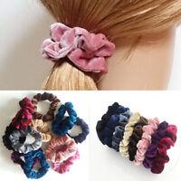 5 Pcs Velvet Elastic Hair Rope Tie Scrunchie Ponytail Holder Accessories Women