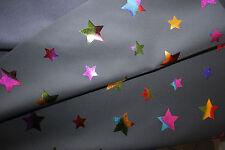 ANGEBOT-Softschell  0,50 x 150 cm  Sterne Multicolor auf grau