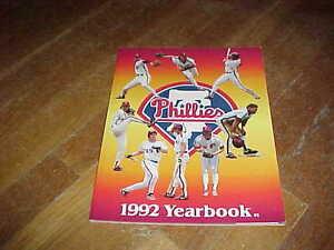 1992 Philadelphia Phillies Baseball Yearbook
