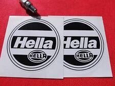 "Pair of  4"" Hella headlights stickers"