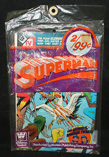 Superman 2pc Comic Book Pre-Pack by Whitman (Sealed) Super Friends / Superboy