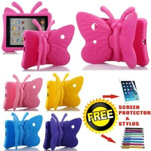 Butterfly Kid Bumper Cover Shockproof Case For iPad 2/3/4 Mini 1/2/3 UK