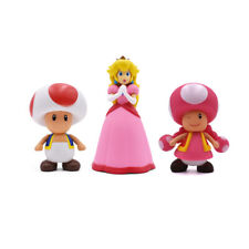 Super Mario Princess Peach Toad Toadette PVC Auction Figure Toy Doll Kids Gift