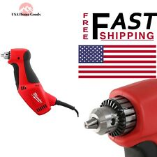 "Milwaukee 3/8"" Close Quarter Drill 3.5Amp Electric Corded Tool Variable Speed"
