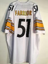 Reebok Authentic NFL Jersey Steelers James Farrior White sz 56
