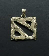 Pendant inspired by Dota 2 game made from bronze