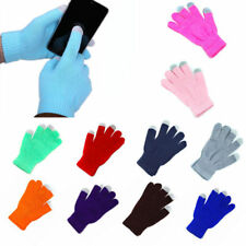 Touch Screen Gloves Soft Winter Men Women Texting Cap Active Smart Phone Knit