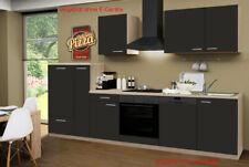 Küchenzeile ohne Elektrogeräte Einbauküche ohne Geräte Küche 310 cm schoko-braun