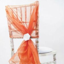 40 Burnt orange Organza Wedding Chair Hoods Sash Decoration