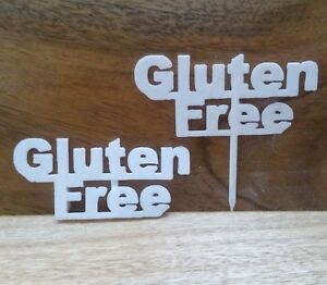 Gluten Free Table Sign Buffet Party Food Allergy Tableware Catering Dairy Nut