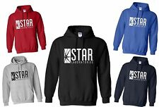 KIDS STAR LABORATORIES HOODIE THE FLASH S.T.A.R. Labs Sizes 3-4 to 12-13