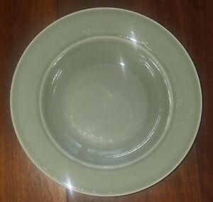 "Williams Sonoma Portugal ""BELVEDERE"" Sage Green Pattern Rimmed Pasta / Soup Bowl"