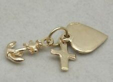 9ct.GOLDFAITH HOPE & CHARITY  CHARM