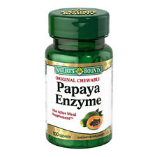 Nature's Bounty Chewable Papaya Enzyme, 100 tablets, pack of 3