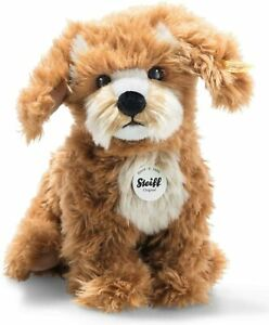 Steiff Curlie Cockapoo 076909 Toy for Children Soft and Cuddly Washable Red Brow