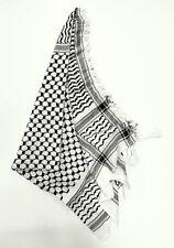 Palästinensertuch, Kufiya, Schwarz-Weiß, 100% Baumwolle, aus Syrien-Damaskus,Neu